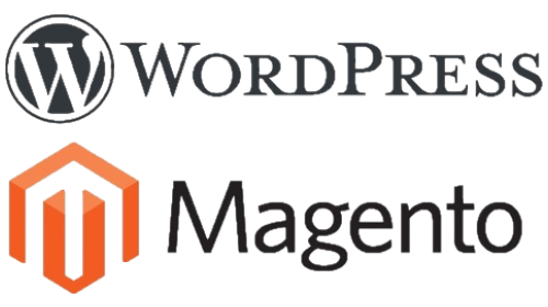 Wordpress & Magento Logos (Transparant)