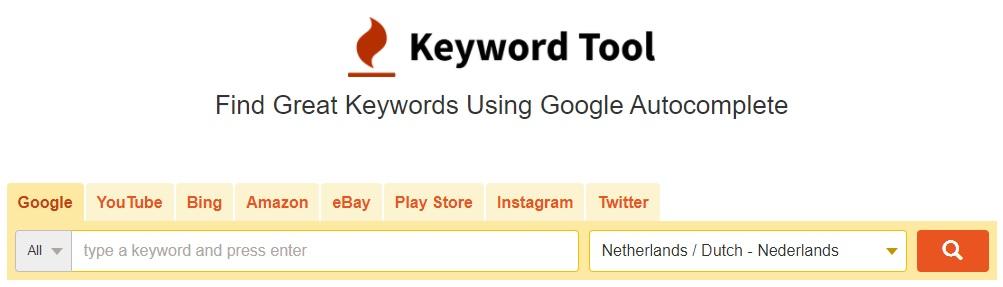 Keywordtool.io voor SEO Teksten