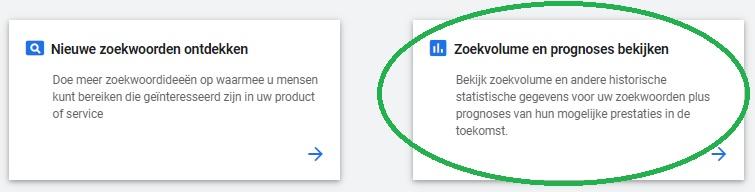 Zoekvolumes en Prognoses Bekijken in de Google Zoekwoordplanner